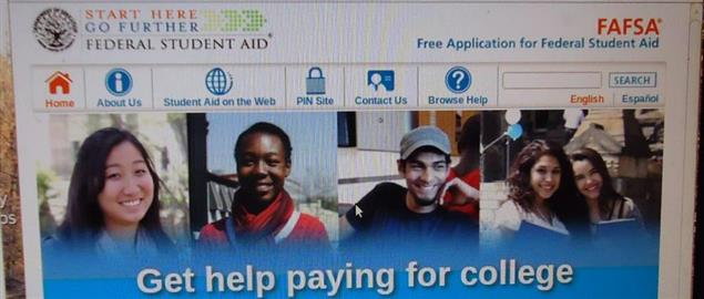 Federal Student Aid, FAFSA website screenshot